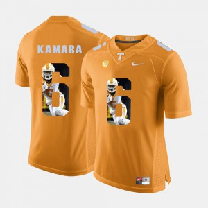 Mens Pictorial Fashion #6 UT Alvin Kamara college Jersey - Orange