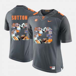 Men's #23 Pictorial Fashion Tennessee Volunteers Cameron Sutton college Jersey - Grey