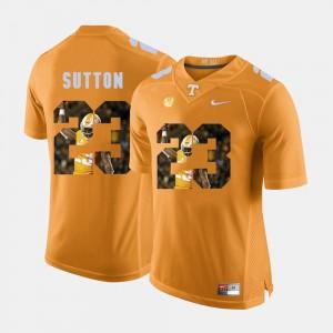 Men UT #23 Pictorial Fashion Cameron Sutton college Jersey - Orange