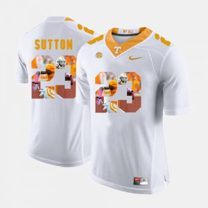 Men's Pictorial Fashion #23 Tennessee Volunteers Cameron Sutton college Jersey - White