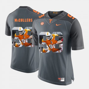 Men's #98 Pictorial Fashion UT VOL Daniel McCullers college Jersey - Grey