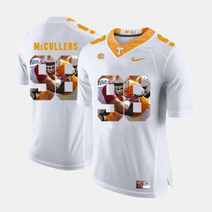 Men #98 University Of Tennessee Pictorial Fashion Daniel McCullers college Jersey - White
