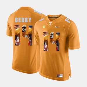 Mens VOL Pictorial Fashion #14 Eric Berry college Jersey - Orange
