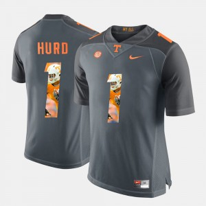 Mens #1 Jalen Hurd college Jersey - Grey Pictorial Fashion TN VOLS
