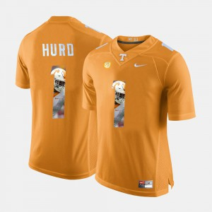 Men Tennessee Pictorial Fashion #1 Jalen Hurd college Jersey - Orange