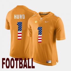 Men Vols #1 US Flag Fashion Jalen Hurd college Jersey - Orange