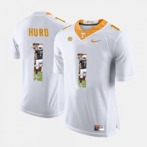 Men University Of Tennessee #1 Pictorial Fashion Jalen Hurd college Jersey - White