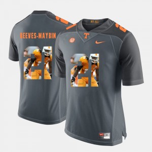 Men's VOL #21 Pictorial Fashion Jalen Reeves-Maybin college Jersey - Grey