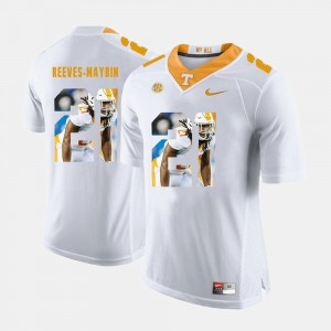 Men's Pictorial Fashion #21 UT VOLS Jalen Reeves-Maybin college Jersey - White