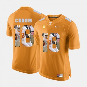 Men UT #18 Pictorial Fashion Jason Croom college Jersey - Orange