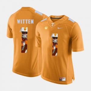 Mens #1 UT VOLS Pictorial Fashion Jason Witten college Jersey - Orange