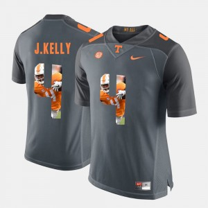 Men's #4 Pictorial Fashion Tennessee Volunteers John Kelly college Jersey - Grey