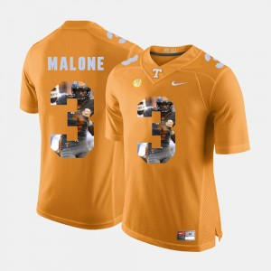 Men's Pictorial Fashion #3 UT VOLS Josh Malone college Jersey - Orange
