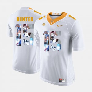 Mens #15 Tennessee Volunteers Pictorial Fashion Justin Hunter college Jersey - White