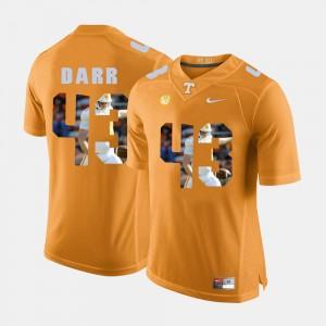 Men's #43 Pictorial Fashion Vols Matt Darr college Jersey - Orange