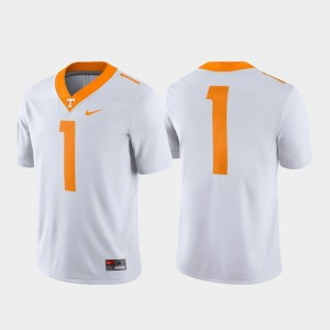 Mens Tennessee #1 Game college Jersey - White