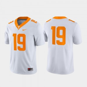 Men's Tennessee Game #19 college Jersey - White