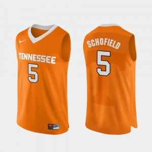 Men Basketball Authentic Performace Tennessee Volunteers #5 Admiral Schofield college Jersey - Orange