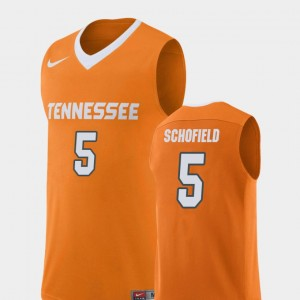 Men #5 UT VOLS Basketball Replica Admiral Schofield college Jersey - Orange