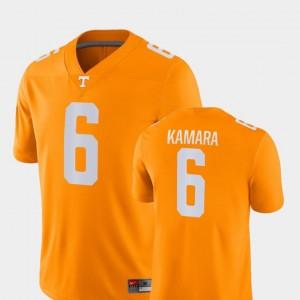 Men's #6 Alvin Kamara college Jersey - Orange Game Football University Of Tennessee
