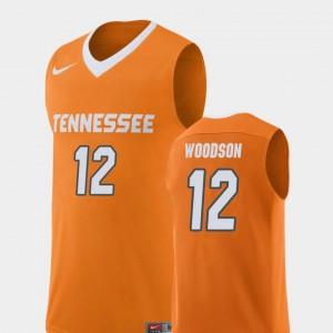 Men's Basketball #12 Vols Replica Brad Woodson college Jersey - Orange