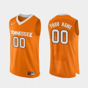 Men Basketball #00 Authentic Performace Tennessee Volunteers college Custom Jersey - Orange