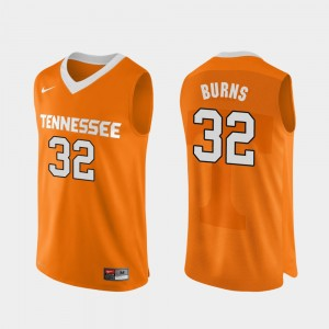Mens Basketball Tennessee Vols Authentic Performace #32 D.J. Burns college Jersey - Orange