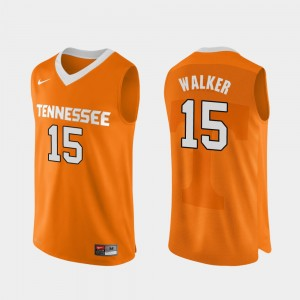 Men Basketball TN VOLS #15 Authentic Performace Derrick Walker college Jersey - Orange