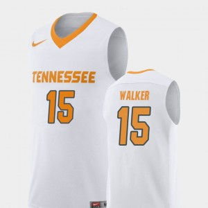 Mens #15 Basketball UT VOLS Replica Derrick Walker college Jersey - White