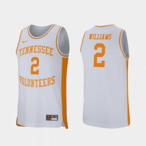 Mens Retro Performance #2 University Of Tennessee Basketball Grant Williams college Jersey - White