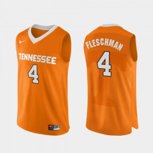 Mens #4 Authentic Performace VOL Basketball Jacob Fleschman college Jersey - Orange