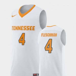 Men Basketball UT #4 Replica Jacob Fleschman college Jersey - White