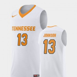 Mens UT VOLS #13 Basketball Replica Jalen Johnson college Jersey - White