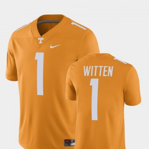 Men's #1 University Of Tennessee Player Alumni Football Game Jason Witten college Jersey - Tennessee Orange