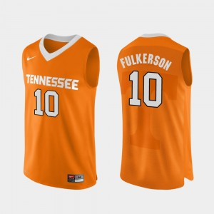 Men #10 Authentic Performace VOL Basketball John Fulkerson college Jersey - Orange