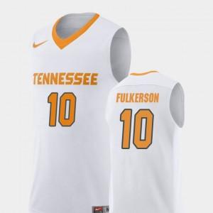 Men #10 UT Replica Basketball John Fulkerson college Jersey - White