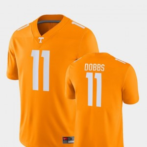 Men's TN VOLS Game Football #11 Joshua Dobbs college Jersey - Orange