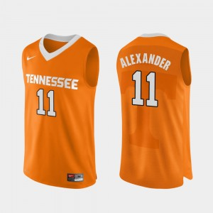 Men Basketball #11 Authentic Performace Tennessee Vols Kyle Alexander college Jersey - Orange