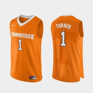 Mens Basketball Authentic Performace #1 UT Lamonte Turner college Jersey - Orange