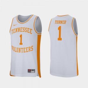 Men Retro Performance UT Volunteer #1 Basketball Lamonte Turner college Jersey - White