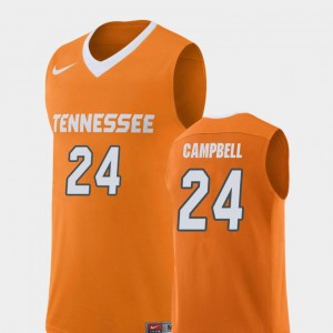 Men Replica Basketball #24 Tennessee Volunteers Lucas Campbell college Jersey - Orange