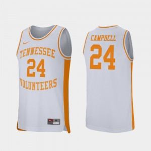 Men's #24 Lucas Campbell college Jersey - White Retro Performance Basketball VOL