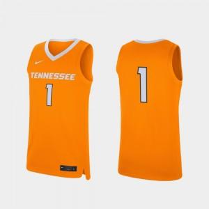 Men Replica #1 Basketball UT VOLS college Jersey - Tennessee Orange