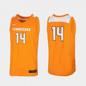 Men's Basketball Tennessee Vols #14 Replica college Jersey - Tennessee Orange