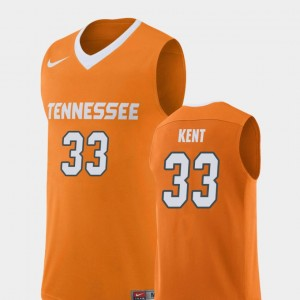 Men's Replica #33 Tennessee Basketball Zach Kent college Jersey - Orange