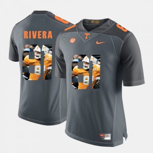 Men's Pictorial Fashion #81 University Of Tennessee Mychal Rivera college Jersey - Grey