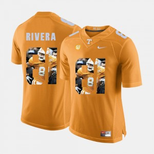 Men's #81 Pictorial Fashion Tennessee Mychal Rivera college Jersey - Orange