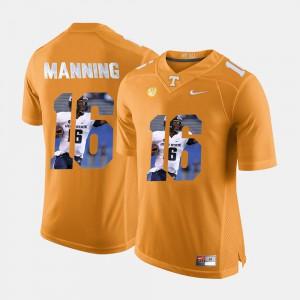 Men #16 UT VOLS Pictorial Fashion Peyton Manning college Jersey - Orange