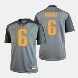 Men's #6 Tennessee Volunteers Football Alvin Kamara college Jersey - Gray