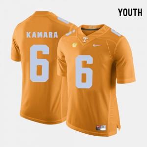 Kids Football #6 UT VOL Alvin Kamara college Jersey - Orange